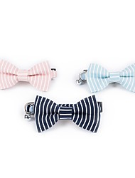 cheap -Dogs Cats Collar Tie / Bow Tie Adjustable Adjustable Size Bow Tie Stripes British Lolita Padded Fabric Fabric Dark Blue Pink Light Blue Husky Labrador Alaskan Malamute Golden Retriever Dalmatian