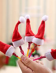 Недорогие -праздничные украшения новогодние / рождественские украшения рождественские украшения декоративные красные 10шт