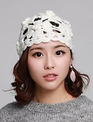cheap -Straw / Plain Knitting Headwear / Headdress with Cap / Sided Hollow Out 1 Piece Wedding / Daily Wear Headpiece