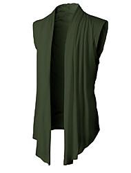 cheap -Men's Daily Solid Colored Sleeveless Regular Cardigan Sweater Jumper Black / Light gray / Army Green M / L / XL