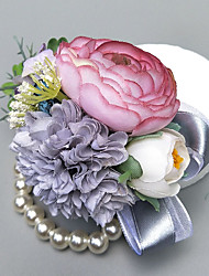 """cheap -Wedding Flowers Boutonnieres / Wrist Corsages Wedding / Party Evening Polyester 1.97""""(Approx.5cm)"""