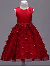 cheap -Toddler Girls' Active Sweet Party Geometric Sleeveless Knee-length Dress Blushing Pink