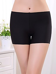 cheap -Women's Basic Cotton Sexy Shorties & Boyshorts Panties Solid Colored Mid Waist Black White Beige One-Size