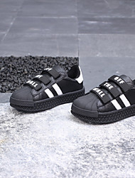 cheap -Girls' PU(Polyurethane) Sneakers Toddler(9m-4ys) / Little Kids(4-7ys) Comfort Black / White Summer