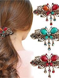 cheap -Headdress Eco-friendly Material Clips Decorations Best Quality 1 pcs Daily Trendy / Fashion Brown Red Blue