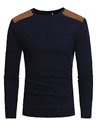 cheap -Men's Daily Solid Colored Long Sleeve Regular Pullover Sweater Jumper Black / Dark Gray M / L / XL