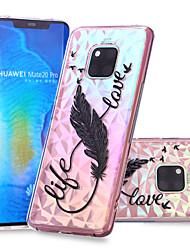 cheap -Case For Huawei Huawei Nova 3i / Huawei P smart / Huawei P Smart Plus Pattern Back Cover Feathers Soft TPU