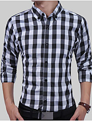 cheap -Men's Daily Basic Shirt - Plaid Red / Long Sleeve