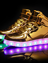 cheap -Boys USB Charging  LED / LED Shoes PU Sneakers Toddler(9m-4ys) / Little Kids(4-7ys) / Big Kids(7years +) LED Black / White / Gold Spring & Summer / Rubber