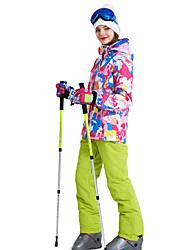 cheap -MARSNOW® Women's Ski Jacket with Pants Winter Sports Waterproof Warm Breathability Brocade Clothing Suit Ski Wear