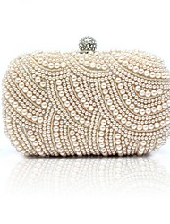 cheap -Women's Bags Evening Bag Pearls Party Event / Party Evening Bag Wedding Bags Handbags White Black