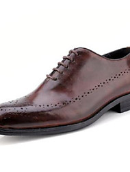 cheap -Men's Bullock Shoes Cowhide Spring / Fall British Oxfords Black / Wine / Brown / Wedding / Party & Evening / Party & Evening