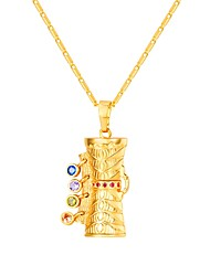 cheap -Women's Multicolor AAA Cubic Zirconia Pendant Necklace Cameo Ladies Ethnic Fashion Copper Gold 55 cm Necklace Jewelry 1pc For Gift Daily