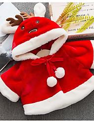 cheap -Baby Girls' Basic Solid Colored / Christmas Long Sleeve Regular Cotton Jacket & Coat White