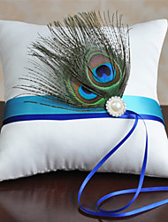 cheap -Fabric Feather Cotton / Linen Ring Pillow Pillow All Seasons