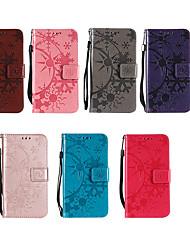 Недорогие -Кейс для Назначение Nokia Nokia 9 / Nokia 8 / 8 Sirocco Кошелек / Бумажник для карт / со стендом Чехол Однотонный Твердый Кожа PU