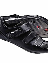 cheap -Adults' Road Bike Shoes Nylon, Fiberglass, Air-flow vents, Non-Slip tread Breathable Cushioning Ventilation Cycling / Bike Cycling Shoes Black Cycling Shoes / Ultra Light (UL) / Ultra Light (UL)