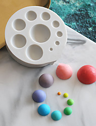 Недорогие -1шт Силикон Милый Торты Для приготовления пищи Посуда Круглый Формы для пирожных Инструменты для выпечки