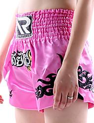 Недорогие -Шорты для Муай Тай / Боксерские шорты Назначение Боевые искусства, Грэпплинг, UFC Эластичный пояс Вышивка Быстровысыхающий, Пригодно для носки, Впитывает пот и влагу Полиэфир Взрослые / Дети -