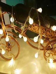 cheap -1.5m String Lights 10 LEDs Warm White Decorative AA Batteries Powered 1 set