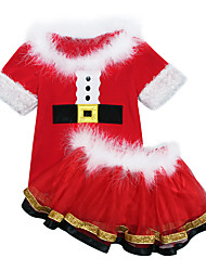 cheap -Cosplay Costume Santa Clothes Kid's Boys' Christmas Christmas New Year Festival / Holiday Polyster Red Carnival Costumes Holiday