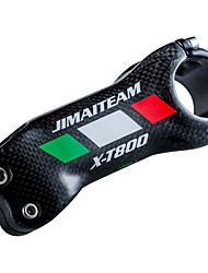 cheap -31.8 mm Bike Stem 17 degree 90 mm Carbon Fiber Lightweight High Strength Easy to Install for Cycling Bicycle 3K Glossy
