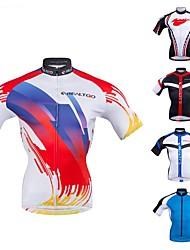 cheap -Realtoo Men's Short Sleeve Cycling Jersey Blue Red / White Black / White Bike Jersey Top Anatomic Design Sports Polyster Mountain Bike MTB Road Bike Cycling Clothing Apparel / Micro-elastic