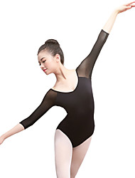 cheap -Ballet Leotards Women's Training / Performance Elastane / Lycra Split Joint 3/4 Length Sleeve Leotard / Onesie