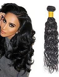 cheap -4 Bundles Peruvian Hair Water Wave Human Hair Unprocessed Human Hair Headpiece Natural Color Hair Weaves / Hair Bulk Hair Care 8-28 inch Natural Color Human Hair Weaves Newborn Waterfall Silky Human