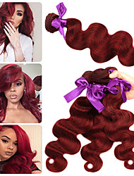 cheap -3 Bundles Indian Hair Body Wave Remy Human Hair Human Hair Extensions 10-26 inch Human Hair Weaves Soft Best Quality New Arrival Human Hair Extensions / 10A