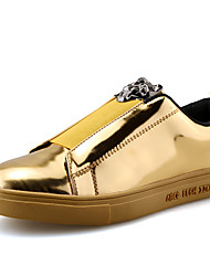 cheap -Men's Comfort Shoes Patent Leather Spring & Summer Casual Sneakers Breathable Black / Gold / Blue / Sequin