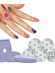cheap -1 set Eco-friendly Material Nail Art Drill Kit For Best Quality Flower Series nail art Manicure Pedicure Trendy / Fashion Daily