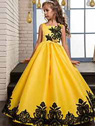 abordables -Princesse Rétro Vintage Années 70 Années 80 Robe Costume de Soirée Fille Costume Violet / Jaune / Rouge Vintage Cosplay Sans Manches