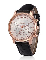 cheap -Men's Dress Watch Quartz Leather Black / Brown Chronograph Creative New Design Analog Classic Vintage Fashion - Brown / Gold Rose Gold / White Black / Rose Gold One Year Battery Life