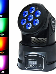 cheap -Stage Lighting LED7 Small Moving Head Light LED Full Color Par Light Beam Light KTV Laser Light Wedding Moving Head Light Bar Light