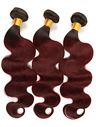 cheap -3 Bundles Brazilian Hair Body Wave Remy Human Hair Human Hair Extensions 10-26 inch Human Hair Weaves Soft Best Quality New Arrival Human Hair Extensions / 10A