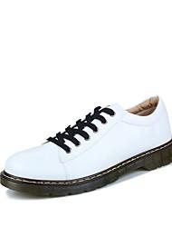 cheap -Men's Combat Boots PU Winter Boots Black / White / Burgundy / Outdoor