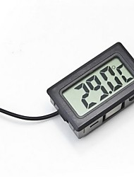 cheap -Digital Embedded Thermometer LCD Instant Read Refrigerator Aquarium Monitoring Display with Waterproof Detector