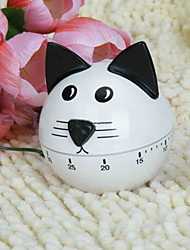 cheap -Cute Cat Shape Kitchen Timer Cockwise Kitchen Alarm Mechanical Bell