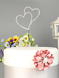 cheap -Cake Topper Beach Theme / Garden Theme / Classic Theme Stylish Alloy Wedding / Special Occasion with Crystals / Rhinestones 1 pcs OPP