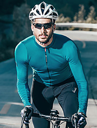 cheap -SANTIC Men's Long Sleeve Cycling Jersey Wine Red Green Blue Bike Jersey Top Mountain Bike MTB Road Bike Cycling Moisture Wicking Sports Terylene Clothing Apparel / Micro-elastic / Race Fit