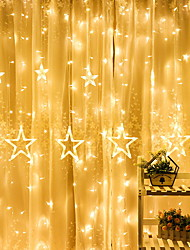 cheap -4m String Lights 138 LEDs Warm White Decorative 220-240 V 1 set