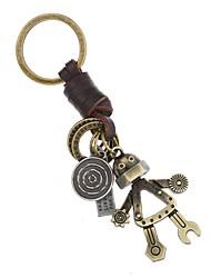 cheap -Classic Theme / Robot / Creative Keychain Favors Chrome / Calf Hair Keychains - 1 pcs All Seasons