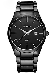 cheap -Men's Dress Watch Quartz Stainless Steel Black / Silver Calendar / date / day Stopwatch Analog Classic Casual Fashion - White  / Silver Black / White Black / Silver