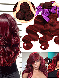 cheap -3 Bundles Peruvian Hair Body Wave Remy Human Hair Human Hair Extensions 10-26 inch Human Hair Weaves Soft Best Quality New Arrival Human Hair Extensions / 10A