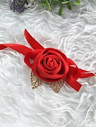 cheap -Wedding Flowers Wrist Corsages Wedding / Wedding Party Silk / Fabrics 0-10 cm