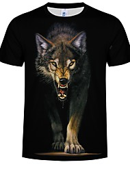 preiswerte -Inspiriert von Cosplay Cosplay Anime Cosplay Kostüme Japanisch Cosplay-T-Shirt Tierwelt Print Tier Kurzarm T-shirt Für Herren