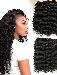 cheap -6 Bundles Indian Hair Deep Wave Human Hair Natural Color Hair Weaves / Hair Bulk Hair Care Bundle Hair 8-28 inch Natural Natural Color Human Hair Weaves Gift Silky Smooth Human Hair Extensions