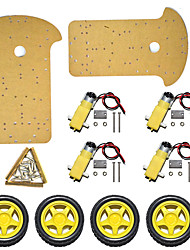 cheap -Smart Car Chassis/ Four-Wheel Two- Tier Smart Tracing Car K-002/ Car Body Extended