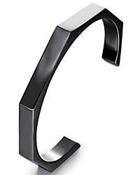 cheap -Men's Cuff Bracelet Classic Fashion Initial Titanium Steel Bracelet Jewelry Black / Rose Gold For Gift Daily